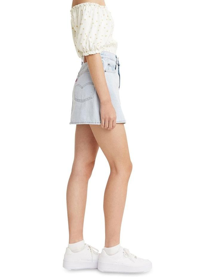 '70S High Micro Mini Denim Skirt image 3