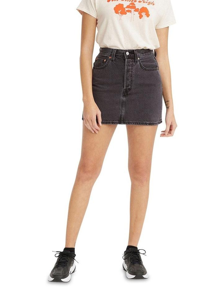 Ribcage Denim Skirt Washed Noir Black image 1