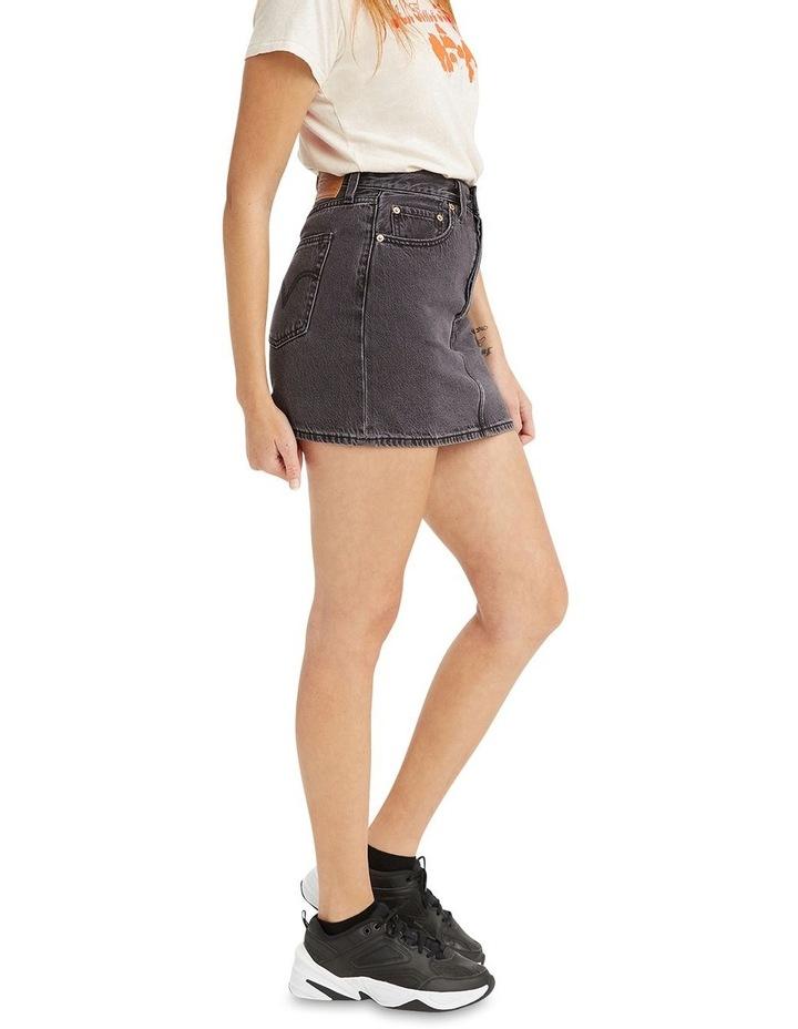 Ribcage Denim Skirt Washed Noir Black image 2