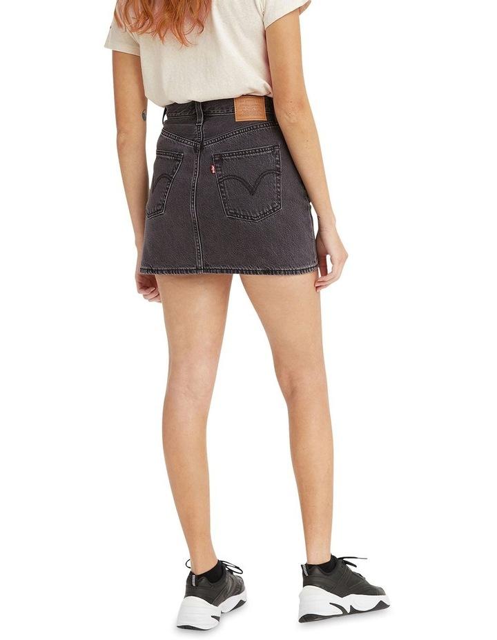 Ribcage Denim Skirt Washed Noir Black image 3