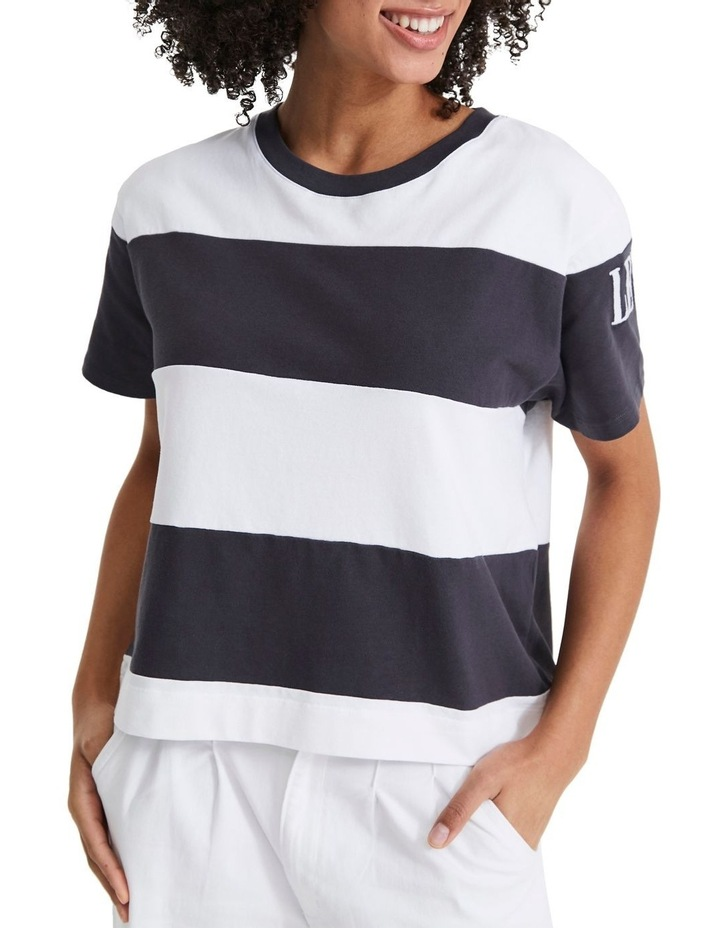 Rugby Stripe Parker 90'S Serif Tee image 1