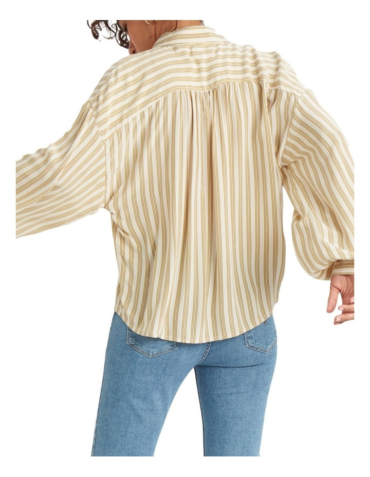 Margot Top Annita Stripe Sandshell Print image 3
