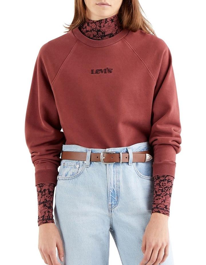 Garment-Dye Vintage Raglan Sweatshirt image 1
