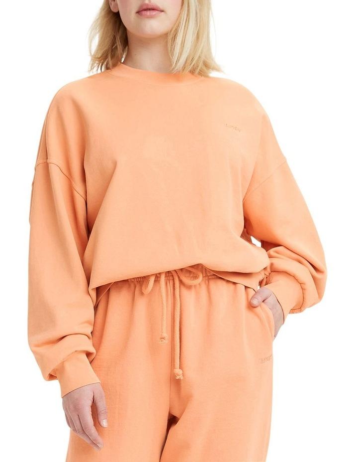 Work From Home Peach Bloom Sweatshirt image 1