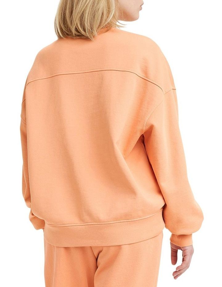 Work From Home Peach Bloom Sweatshirt image 2