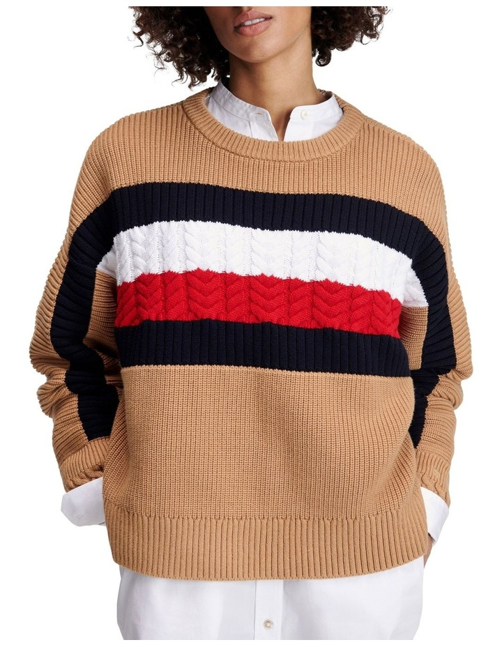 Icon Global Stripe Crew Neck Sweatshirt image 1