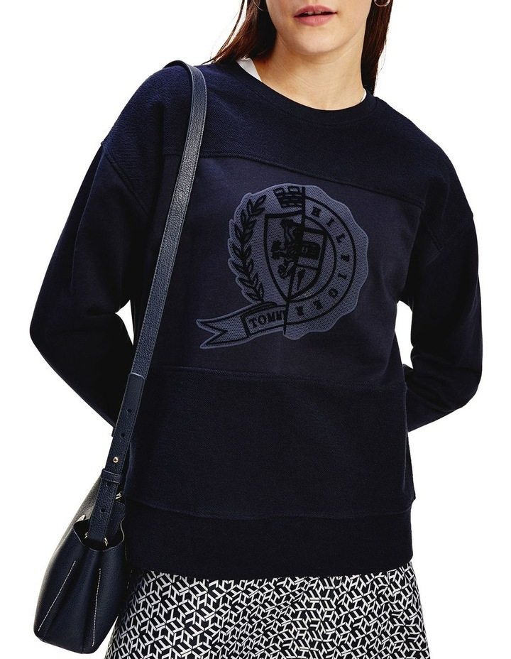 Icon Regular Crew Neck Graphic Sweatshirt image 1