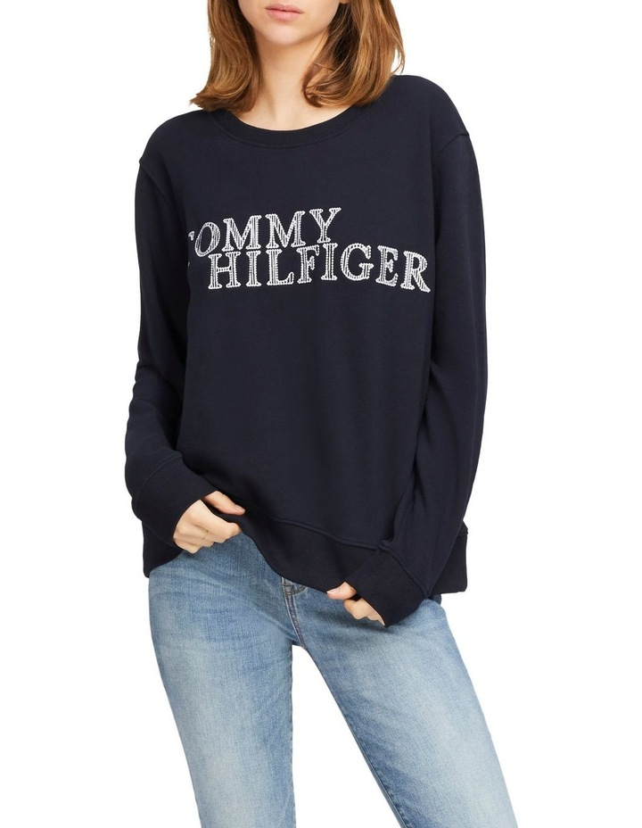 Christa Relaxed Crew Neck Sweatshirt image 1
