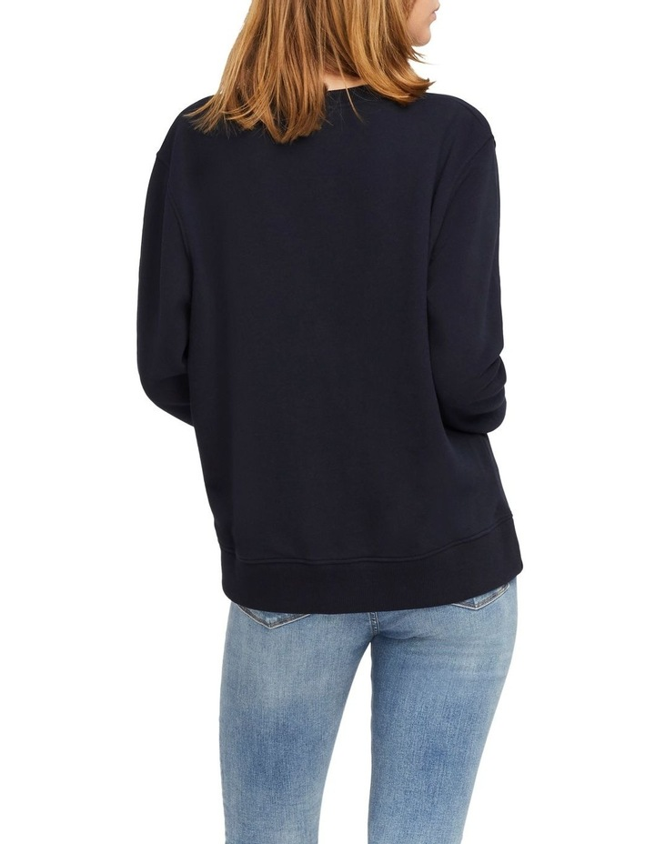 Christa Relaxed Crew Neck Sweatshirt image 2
