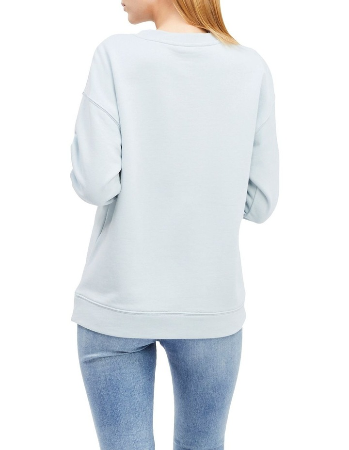 Logo Embroidery Relaxed Fit Sweatshirt image 2
