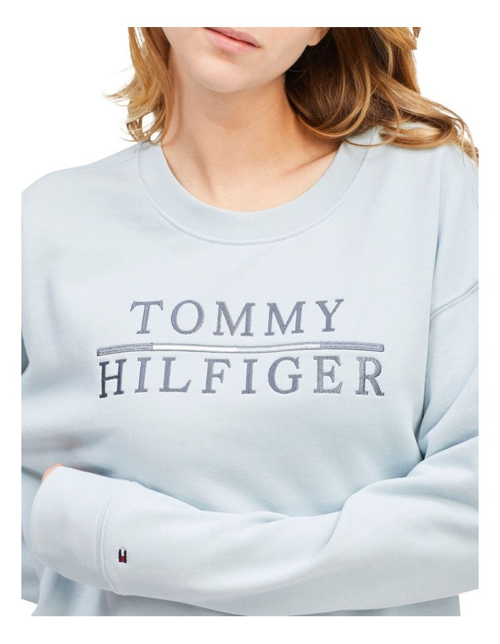 Logo Embroidery Relaxed Fit Sweatshirt image 3