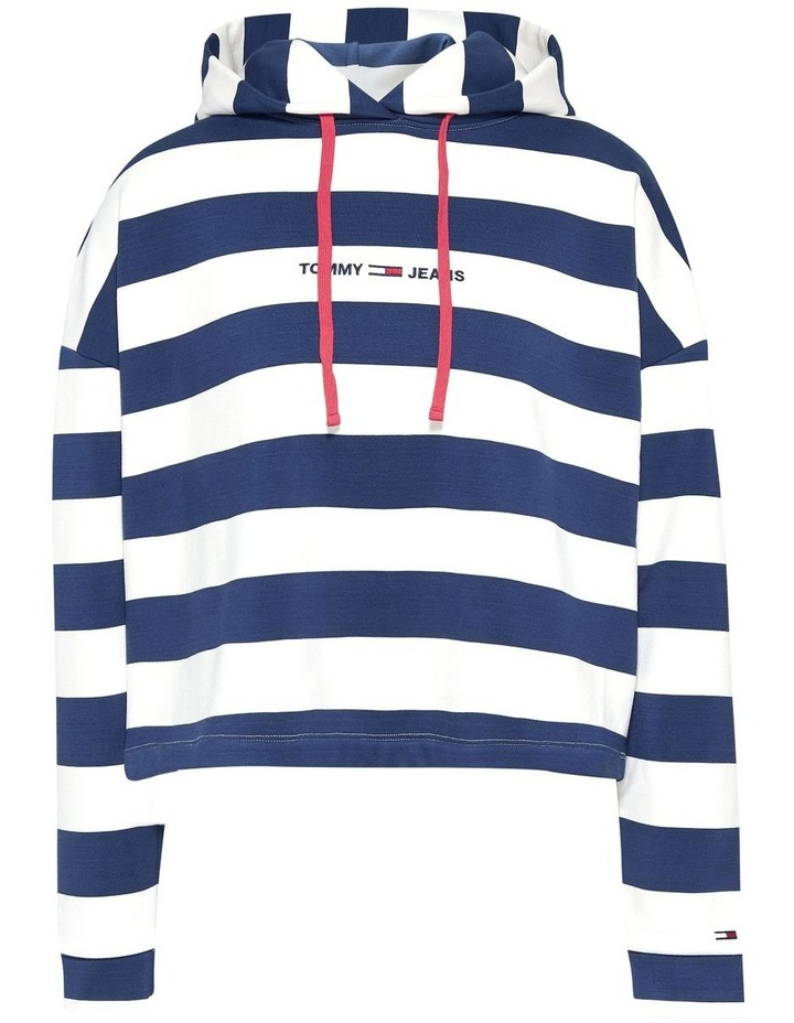 Boxy Stripe Hoodie image 4