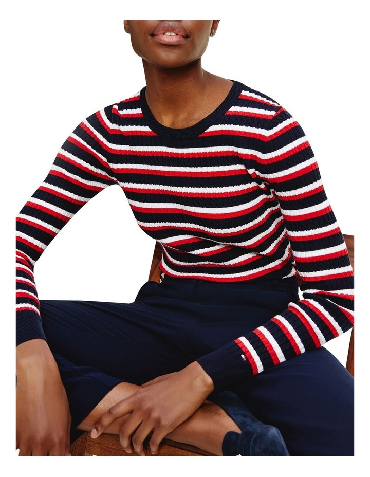 Essential Cable Crew Neck Sweater image 1