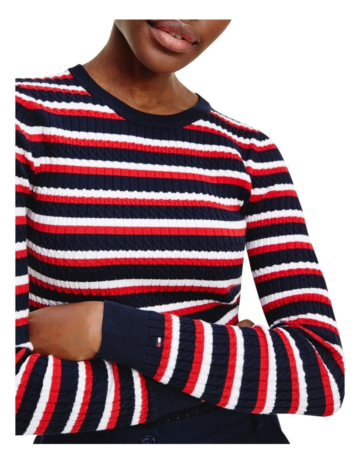 Essential Cable Crew Neck Sweater image 3