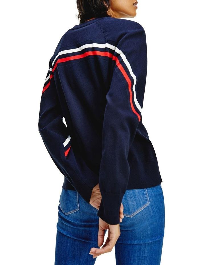 Stripe Crew Neck Sweater image 2