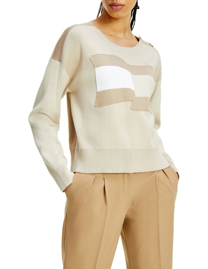 Icon Org Co Flag Sweater Classic Beige Organic Cotton Jumper image 1