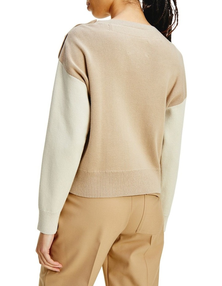 Icon Org Co Flag Sweater Classic Beige Organic Cotton Jumper image 2