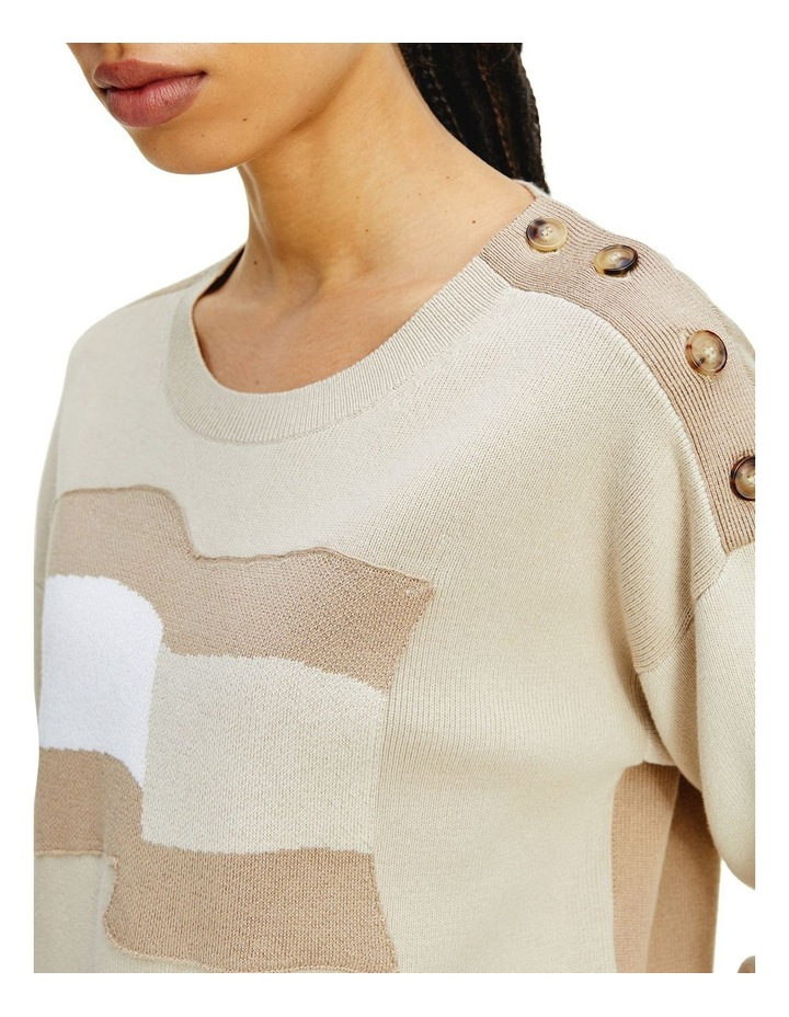 Icon Org Co Flag Sweater Classic Beige Organic Cotton Jumper image 3