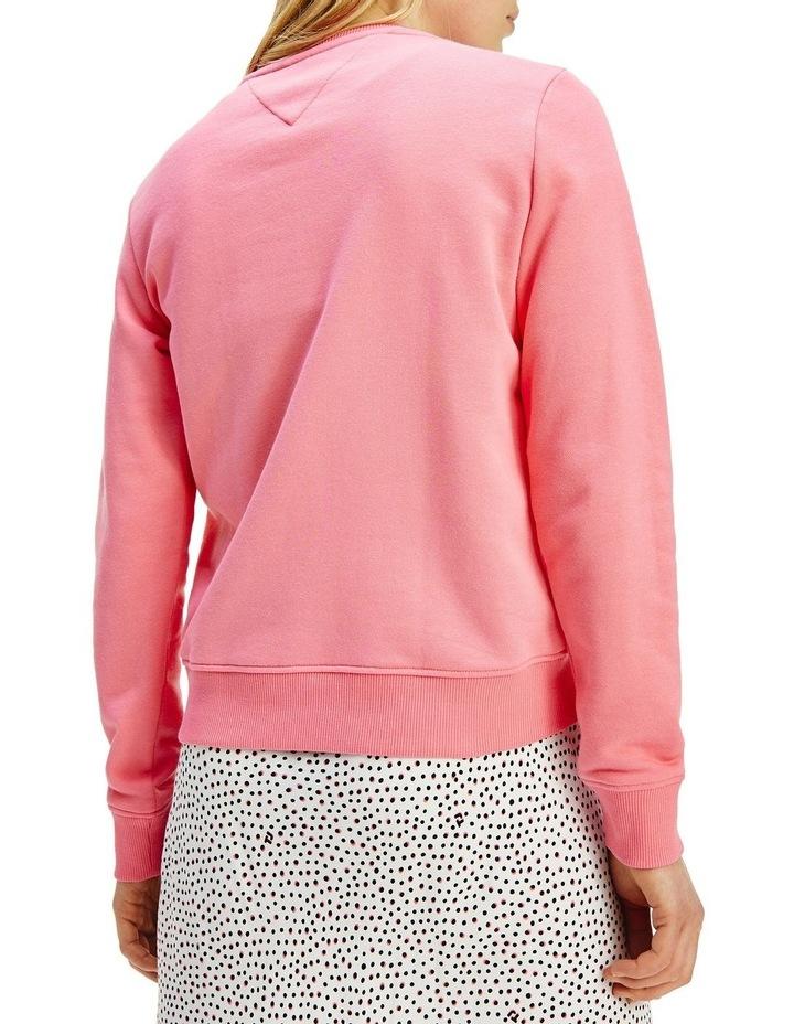 Slim Terry Logo Botanical Pink Sweatshirt image 2