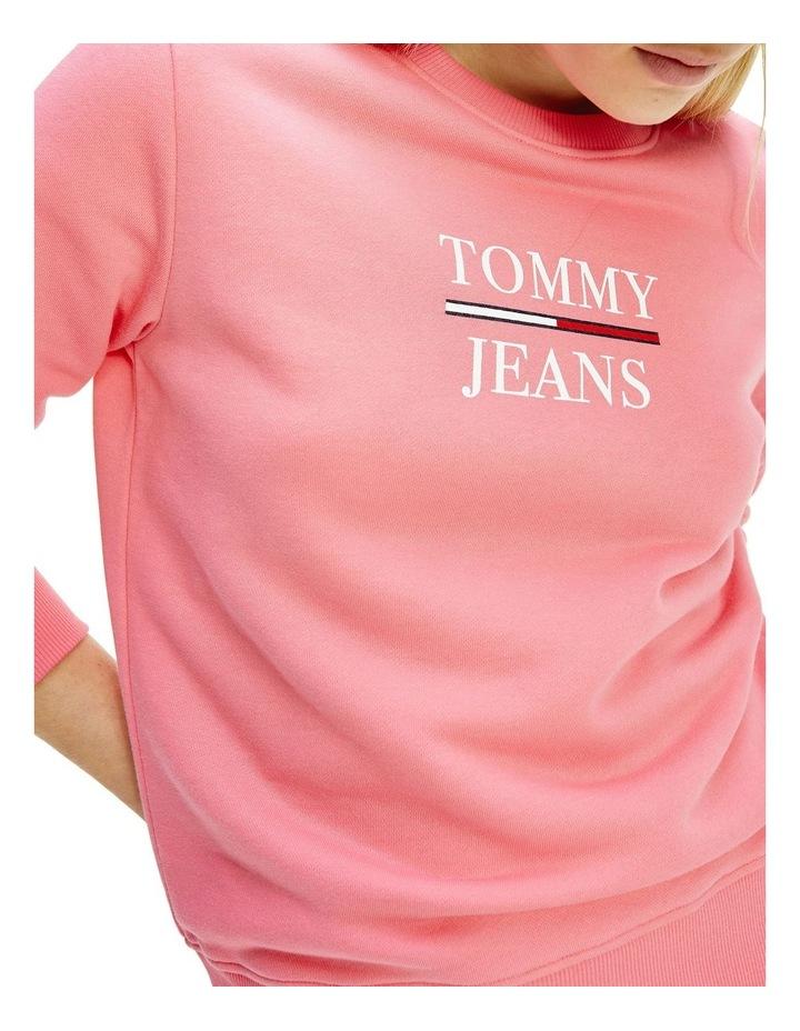 Slim Terry Logo Botanical Pink Sweatshirt image 3