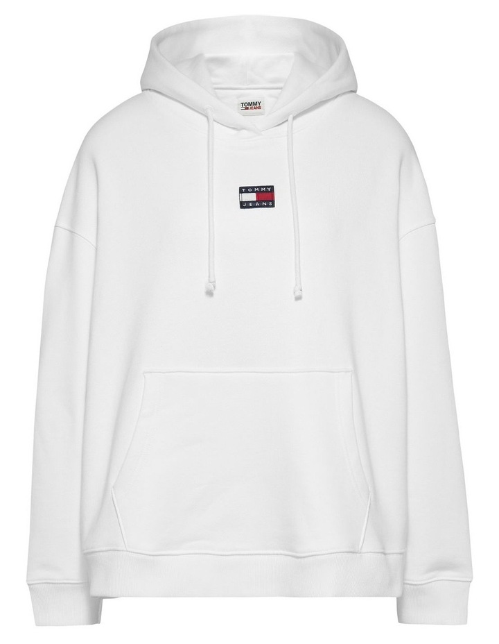 Curve Center Badge Hoodie White image 4