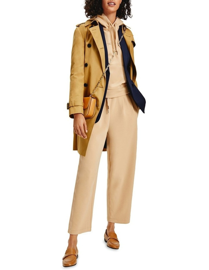 Countryside Khaki Cotton Blend Double Breasted Trench Coat image 1