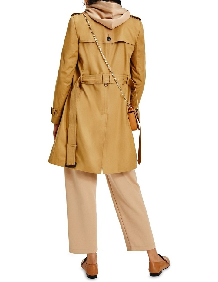 Countryside Khaki Cotton Blend Double Breasted Trench Coat image 2