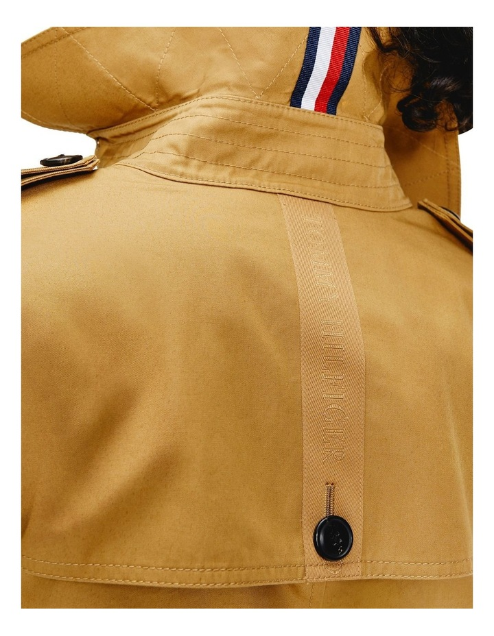 Countryside Khaki Cotton Blend Double Breasted Trench Coat image 3