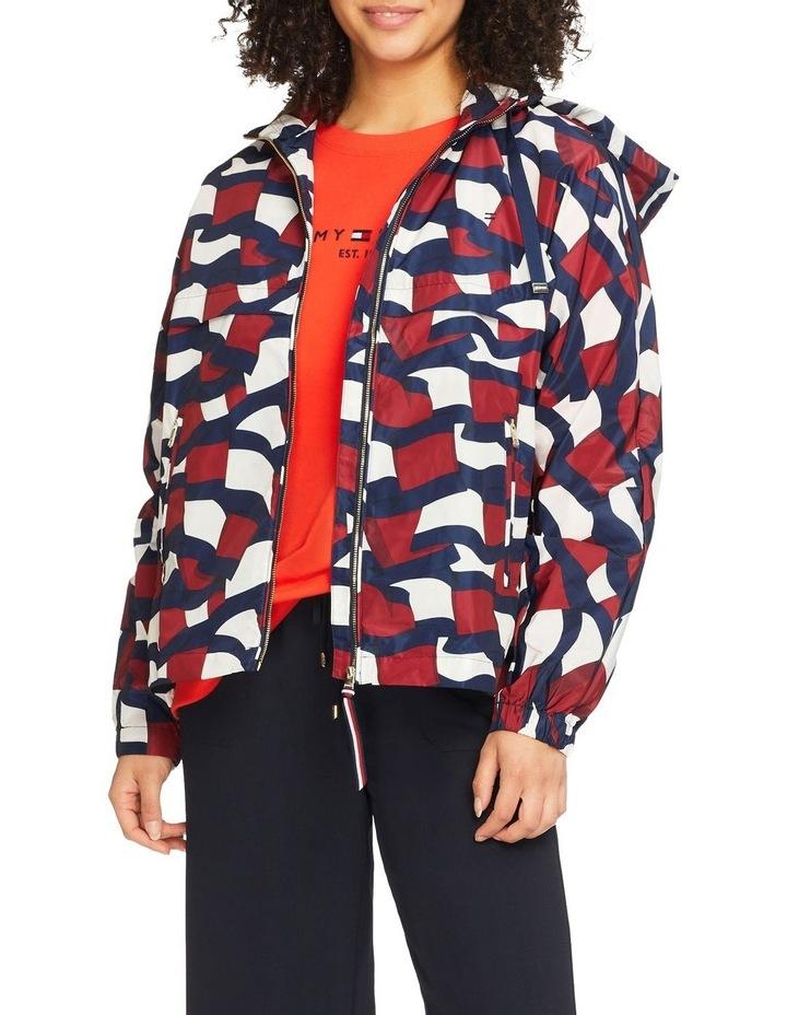 Printed Motion Flag Windbreaker Jacket image 1