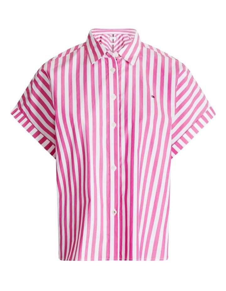 Co Stripe Short Sleeve Relaxed Shirt image 4