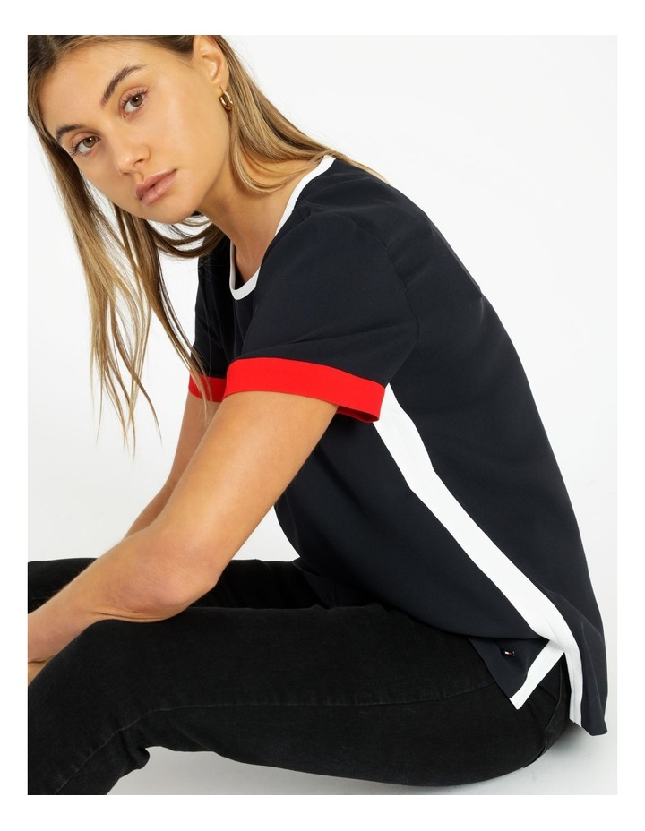 Fluid Twill Relaxed Crew Neck Top image 2