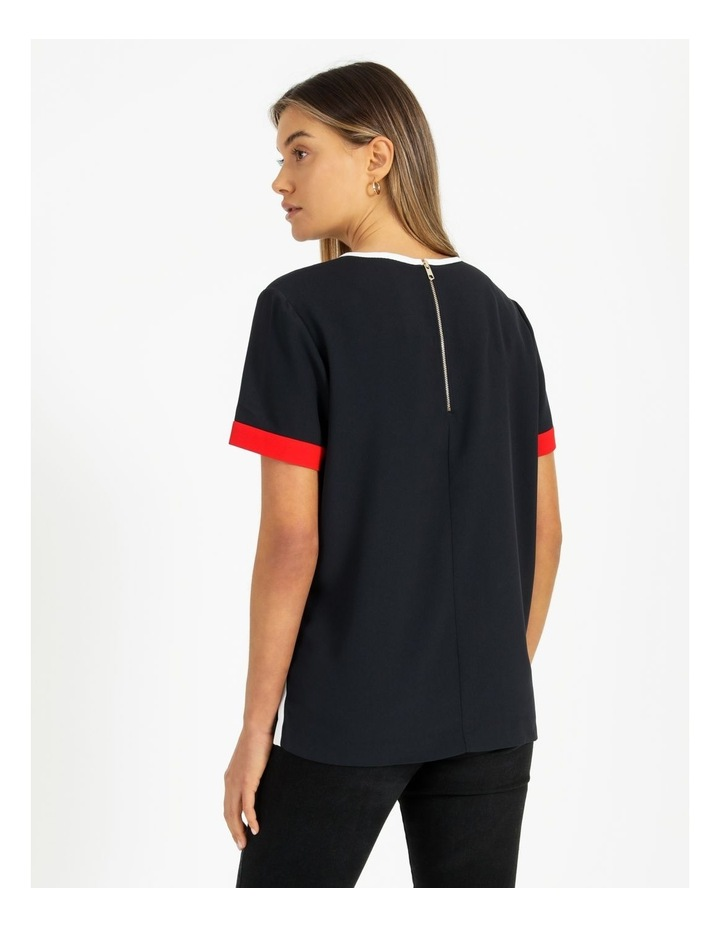 Fluid Twill Relaxed Crew Neck Top image 4