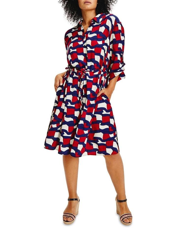 Viscose Knee Shirt Long Sleeve Dress image 1