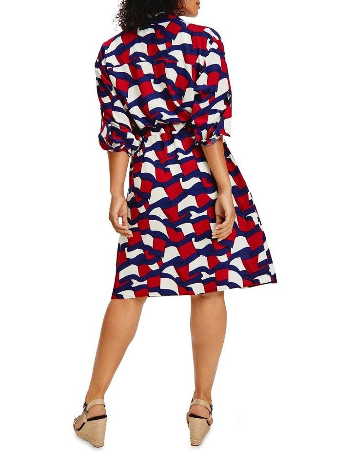 Viscose Knee Shirt Long Sleeve Dress image 2