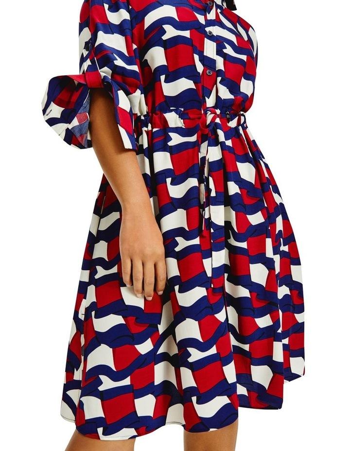 Viscose Knee Shirt Long Sleeve Dress image 3