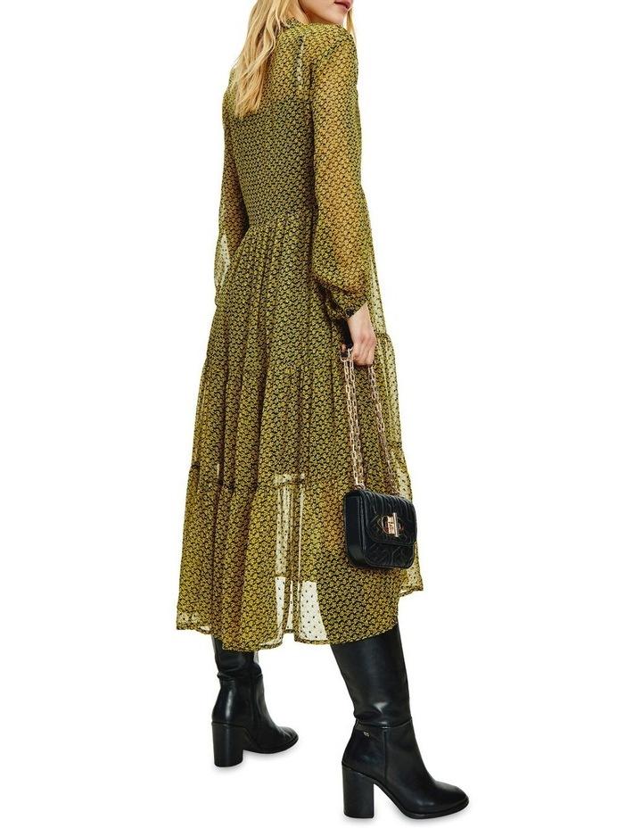 Chiffon Shift Long Sleeve Midi Dress image 2