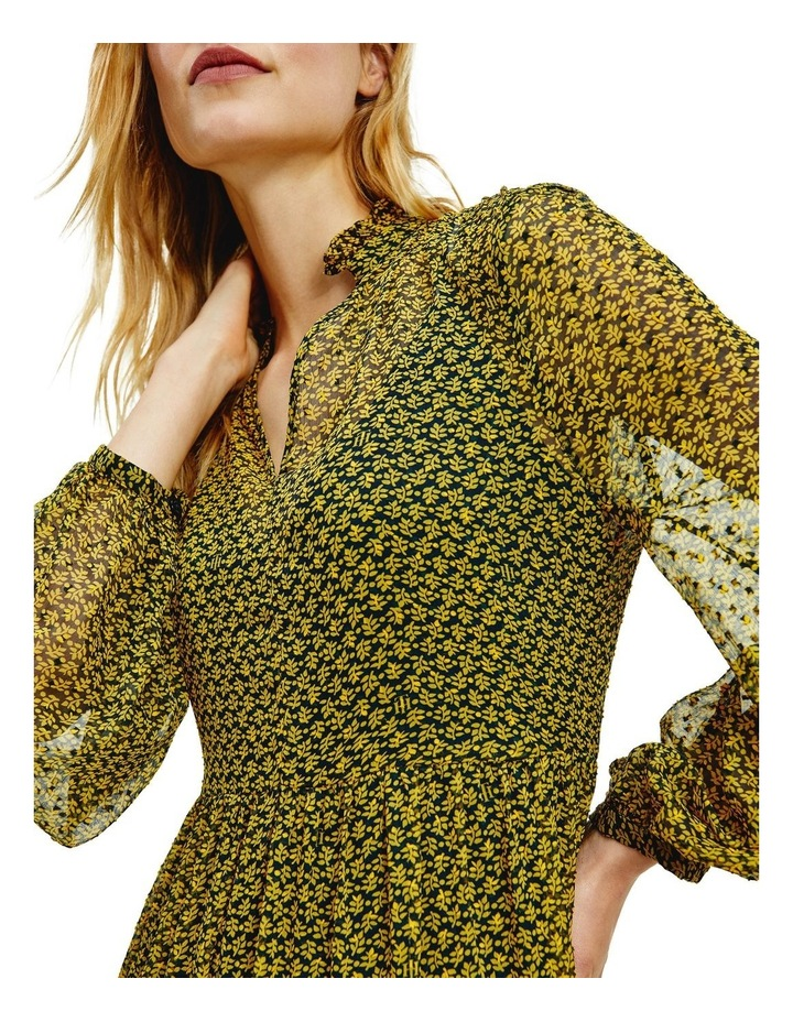 Chiffon Shift Long Sleeve Midi Dress image 3