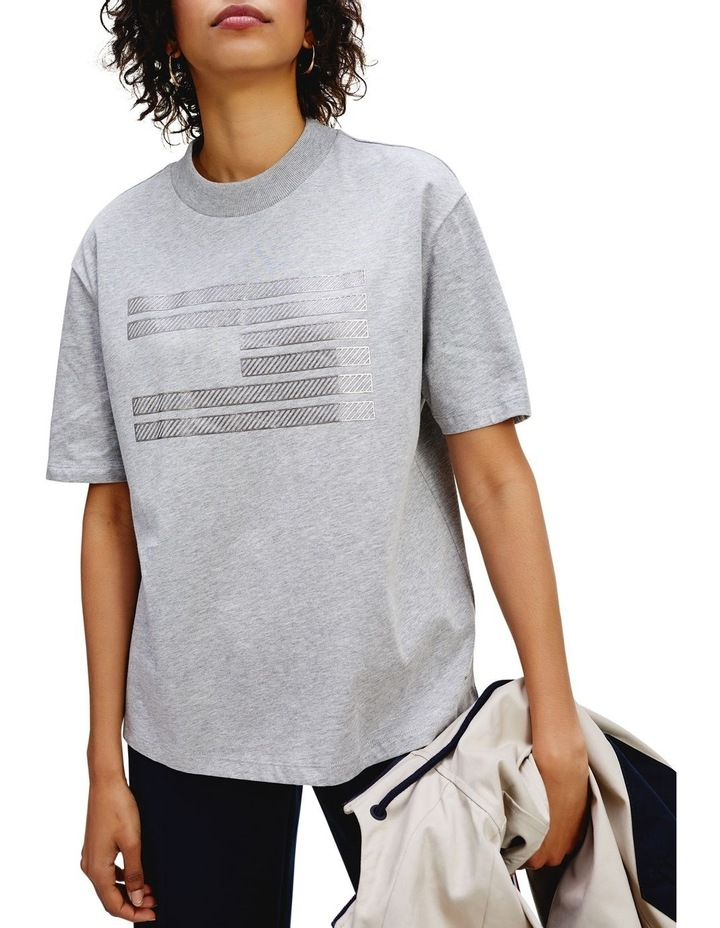 Tommy Icons Metallic Relaxed Fit T-Shirt image 1