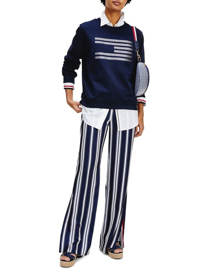 Tommy Icons Metallic Relaxed Fit Sweatshirt image 1