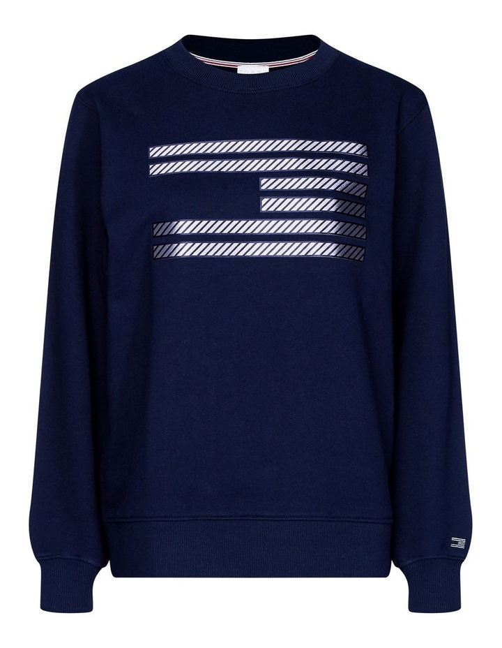 Tommy Icons Metallic Relaxed Fit Sweatshirt image 2