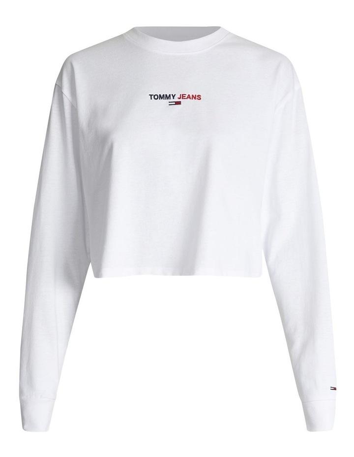 Linear Logo Long Sleeve Tee White image 4