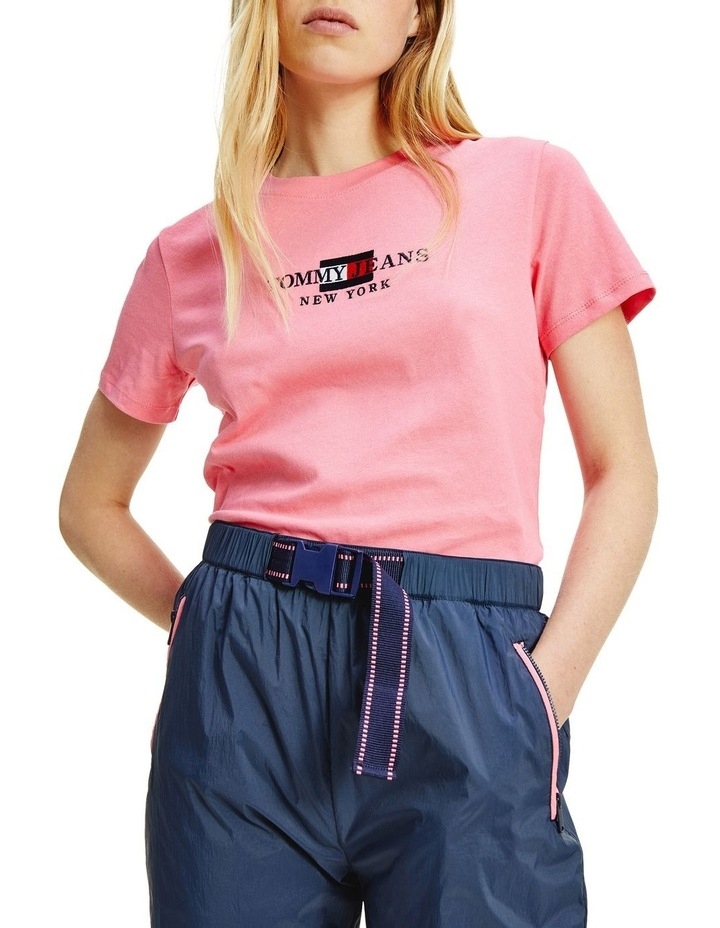Timeless Tommy 2 Crew Neck Tee Pink image 3