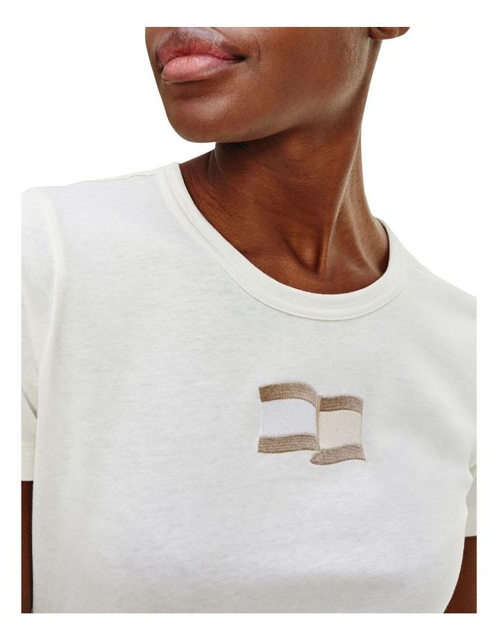 Icon Slim Open-Neck Short Sleeve Top image 3
