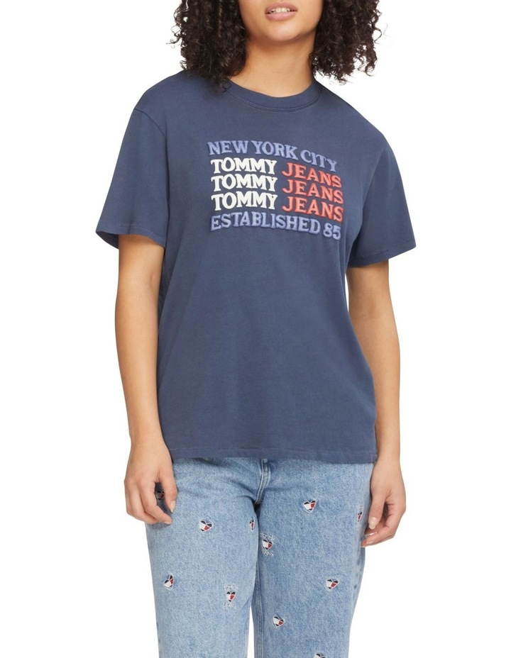 Repeat Logo Relaxed Fit T-Shirt Twilight Navy image 1