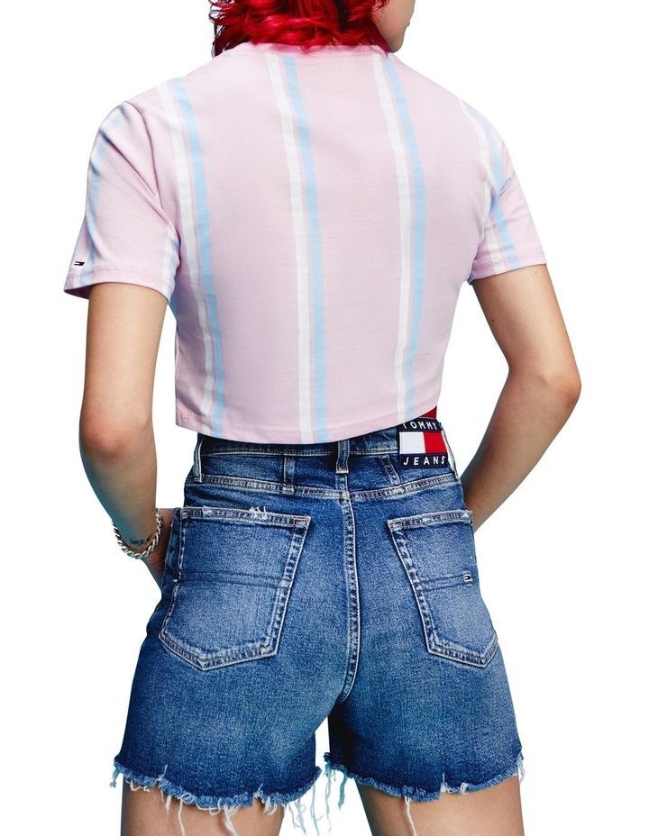 Pastel Stripe Cropped T-Shirt image 2