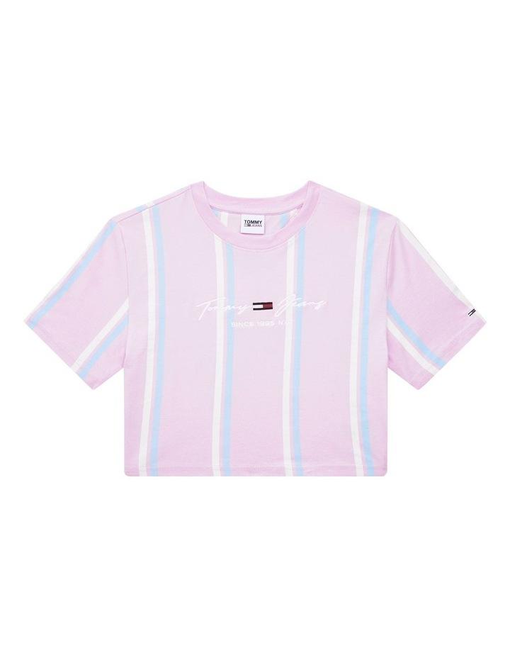 Pastel Stripe Cropped T-Shirt image 4