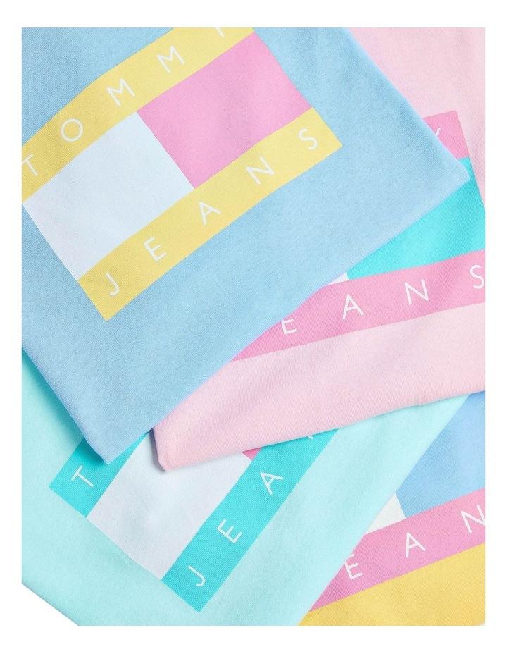 Pastel Stripe Cropped T-Shirt image 5