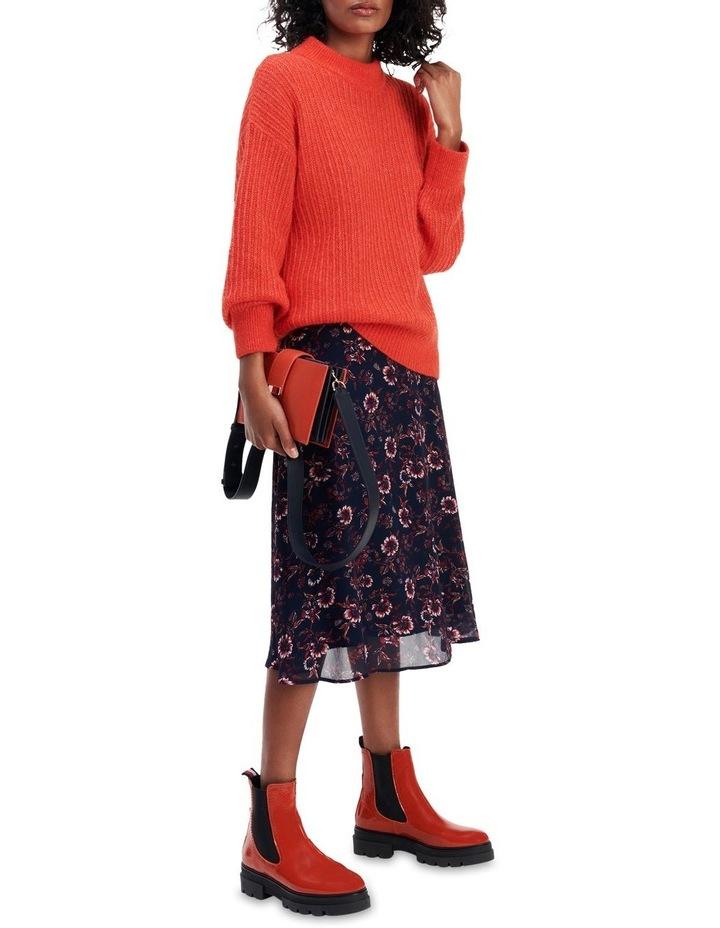 Viscose Floral Knee Length Skirt image 1