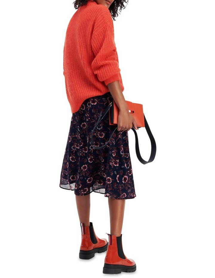 Viscose Floral Knee Length Skirt image 2