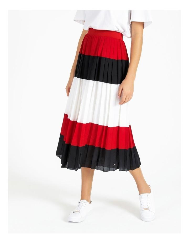 Crepe Pleated Midi Skirt image 1